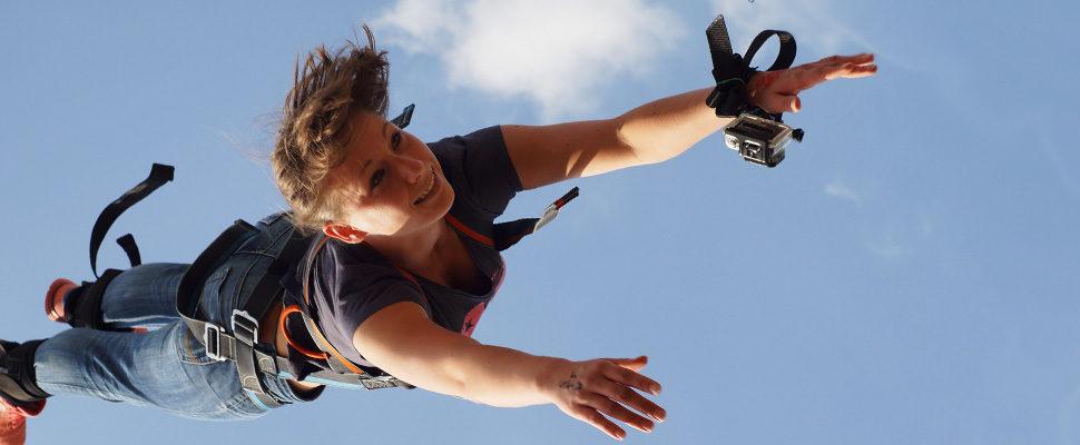 Bungee Jumping am Cospudener See in Leipzig